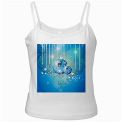 Wonderful Christmas Ball With Reindeer And Snowflakes Ladies Camisoles