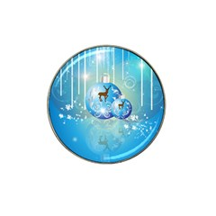Wonderful Christmas Ball With Reindeer And Snowflakes Hat Clip Ball Marker