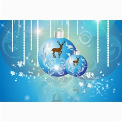 Wonderful Christmas Ball With Reindeer And Snowflakes Collage 12  x 18