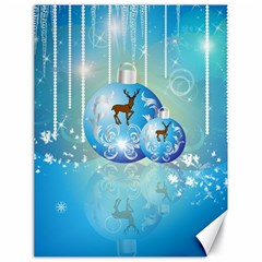 Wonderful Christmas Ball With Reindeer And Snowflakes Canvas 18  x 24