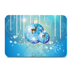Wonderful Christmas Ball With Reindeer And Snowflakes Plate Mats