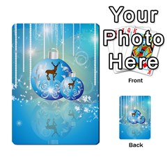 Wonderful Christmas Ball With Reindeer And Snowflakes Multi-purpose Cards (Rectangle)