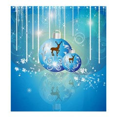 Wonderful Christmas Ball With Reindeer And Snowflakes Shower Curtain 66  x 72  (Large)