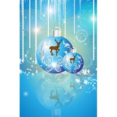 Wonderful Christmas Ball With Reindeer And Snowflakes 5.5  x 8.5  Notebooks