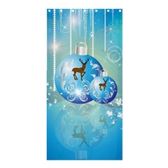 Wonderful Christmas Ball With Reindeer And Snowflakes Shower Curtain 36  x 72  (Stall)