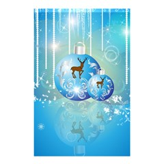 Wonderful Christmas Ball With Reindeer And Snowflakes Shower Curtain 48  X 72  (small)