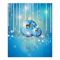 Wonderful Christmas Ball With Reindeer And Snowflakes Shower Curtain 60  X 72  (medium)