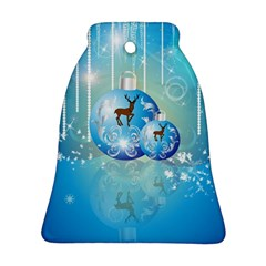 Wonderful Christmas Ball With Reindeer And Snowflakes Ornament (bell)