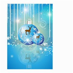 Wonderful Christmas Ball With Reindeer And Snowflakes Small Garden Flag (Two Sides)