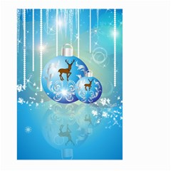 Wonderful Christmas Ball With Reindeer And Snowflakes Large Garden Flag (two Sides)