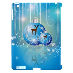 Wonderful Christmas Ball With Reindeer And Snowflakes Apple iPad 3/4 Hardshell Case (Compatible with Smart Cover)