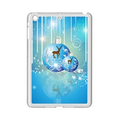 Wonderful Christmas Ball With Reindeer And Snowflakes iPad Mini 2 Enamel Coated Cases