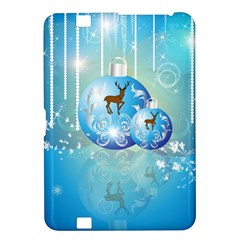 Wonderful Christmas Ball With Reindeer And Snowflakes Kindle Fire HD 8.9