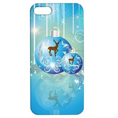 Wonderful Christmas Ball With Reindeer And Snowflakes Apple iPhone 5 Hardshell Case with Stand