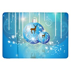 Wonderful Christmas Ball With Reindeer And Snowflakes Samsung Galaxy Tab 8.9  P7300 Flip Case