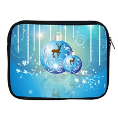 Wonderful Christmas Ball With Reindeer And Snowflakes Apple iPad 2/3/4 Zipper Cases