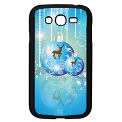 Wonderful Christmas Ball With Reindeer And Snowflakes Samsung Galaxy Grand DUOS I9082 Case (Black)