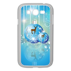 Wonderful Christmas Ball With Reindeer And Snowflakes Samsung Galaxy Grand DUOS I9082 Case (White)