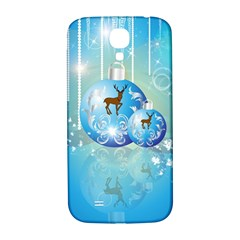 Wonderful Christmas Ball With Reindeer And Snowflakes Samsung Galaxy S4 I9500/i9505  Hardshell Back Case