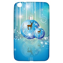 Wonderful Christmas Ball With Reindeer And Snowflakes Samsung Galaxy Tab 3 (8 ) T3100 Hardshell Case