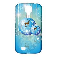 Wonderful Christmas Ball With Reindeer And Snowflakes Samsung Galaxy S4 Classic Hardshell Case (pc+silicone)