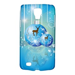 Wonderful Christmas Ball With Reindeer And Snowflakes Galaxy S4 Active