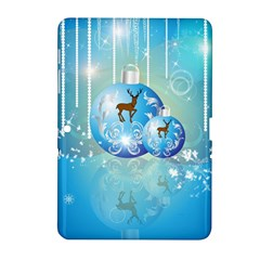 Wonderful Christmas Ball With Reindeer And Snowflakes Samsung Galaxy Tab 2 (10.1 ) P5100 Hardshell Case