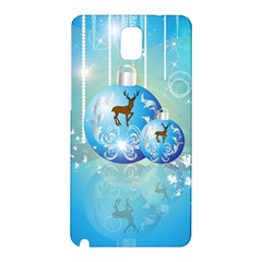 Wonderful Christmas Ball With Reindeer And Snowflakes Samsung Galaxy Note 3 N9005 Hardshell Back Case