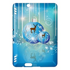 Wonderful Christmas Ball With Reindeer And Snowflakes Kindle Fire HDX Hardshell Case