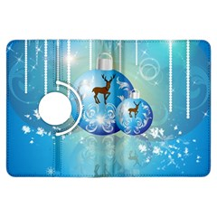 Wonderful Christmas Ball With Reindeer And Snowflakes Kindle Fire HDX Flip 360 Case