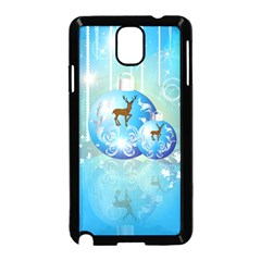 Wonderful Christmas Ball With Reindeer And Snowflakes Samsung Galaxy Note 3 Neo Hardshell Case (Black)