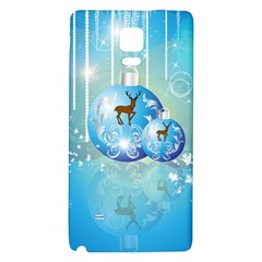 Wonderful Christmas Ball With Reindeer And Snowflakes Galaxy Note 4 Back Case