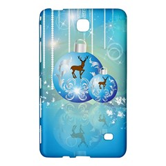 Wonderful Christmas Ball With Reindeer And Snowflakes Samsung Galaxy Tab 4 (8 ) Hardshell Case