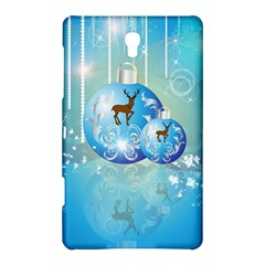 Wonderful Christmas Ball With Reindeer And Snowflakes Samsung Galaxy Tab S (8 4 ) Hardshell Case