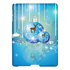 Wonderful Christmas Ball With Reindeer And Snowflakes Samsung Galaxy Tab S (10.5 ) Hardshell Case