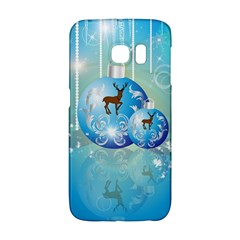 Wonderful Christmas Ball With Reindeer And Snowflakes Galaxy S6 Edge