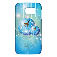 Wonderful Christmas Ball With Reindeer And Snowflakes Galaxy S6