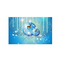 Wonderful Christmas Ball With Reindeer And Snowflakes Satin Wrap