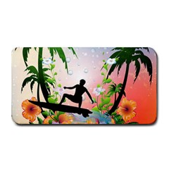 Tropical Design With Surfboarder Medium Bar Mats