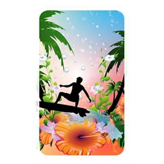 Tropical Design With Surfboarder Memory Card Reader