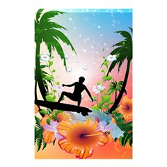 Tropical Design With Surfboarder Shower Curtain 48  X 72  (small)