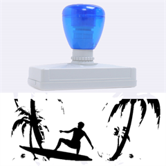 Tropical Design With Surfboarder Rubber Address Stamps (XL)