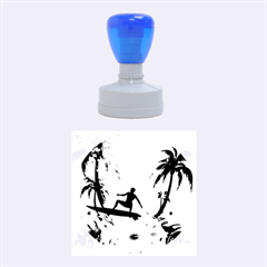 Tropical Design With Surfboarder Rubber Round Stamps (medium)