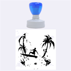 Tropical Design With Surfboarder Rubber Round Stamps (large)