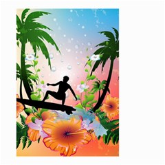 Tropical Design With Surfboarder Small Garden Flag (Two Sides)