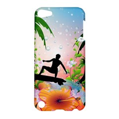 Tropical Design With Surfboarder Apple iPod Touch 5 Hardshell Case