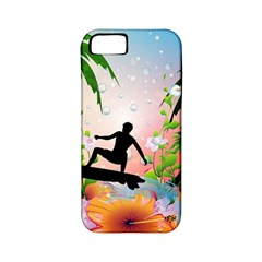 Tropical Design With Surfboarder Apple iPhone 5 Classic Hardshell Case (PC+Silicone)