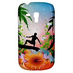 Tropical Design With Surfboarder Samsung Galaxy S3 MINI I8190 Hardshell Case