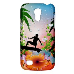 Tropical Design With Surfboarder Galaxy S4 Mini