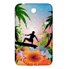 Tropical Design With Surfboarder Samsung Galaxy Tab 3 (7 ) P3200 Hardshell Case